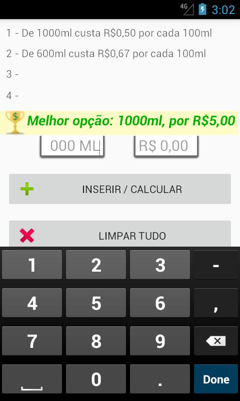 calculadora de bebida